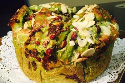 绿茶手撕面包