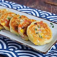 外酥里嫩的鲜蔬土豆饼,简单快手的营养早餐,可做小吃可做主食的做法图解8
