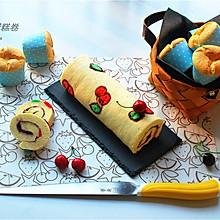 樱桃彩绘蛋糕卷