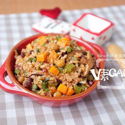 茄汁黑椒杂蔬烩饭