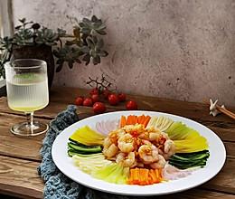 #我为奥运出食力#丰富餐桌味之虾仁五彩大凉拌的做法