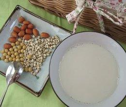 黄豆花生薏米浆的做法