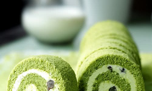 Q润的抹茶蜜豆蛋糕卷的做法