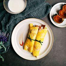 快手早餐鸡蛋手卷