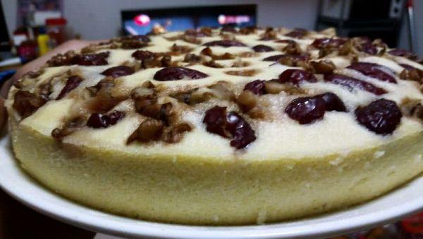 红枣核桃糯米蛋糕