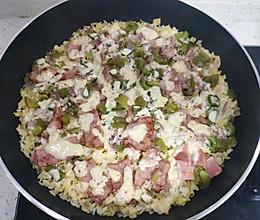 平底锅版培根火腿焗饭的做法