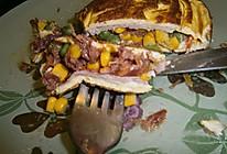 芝香杂菜煎蛋饼的做法