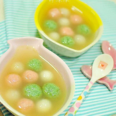 营养完美均衡 双色鱼丸萝卜汤