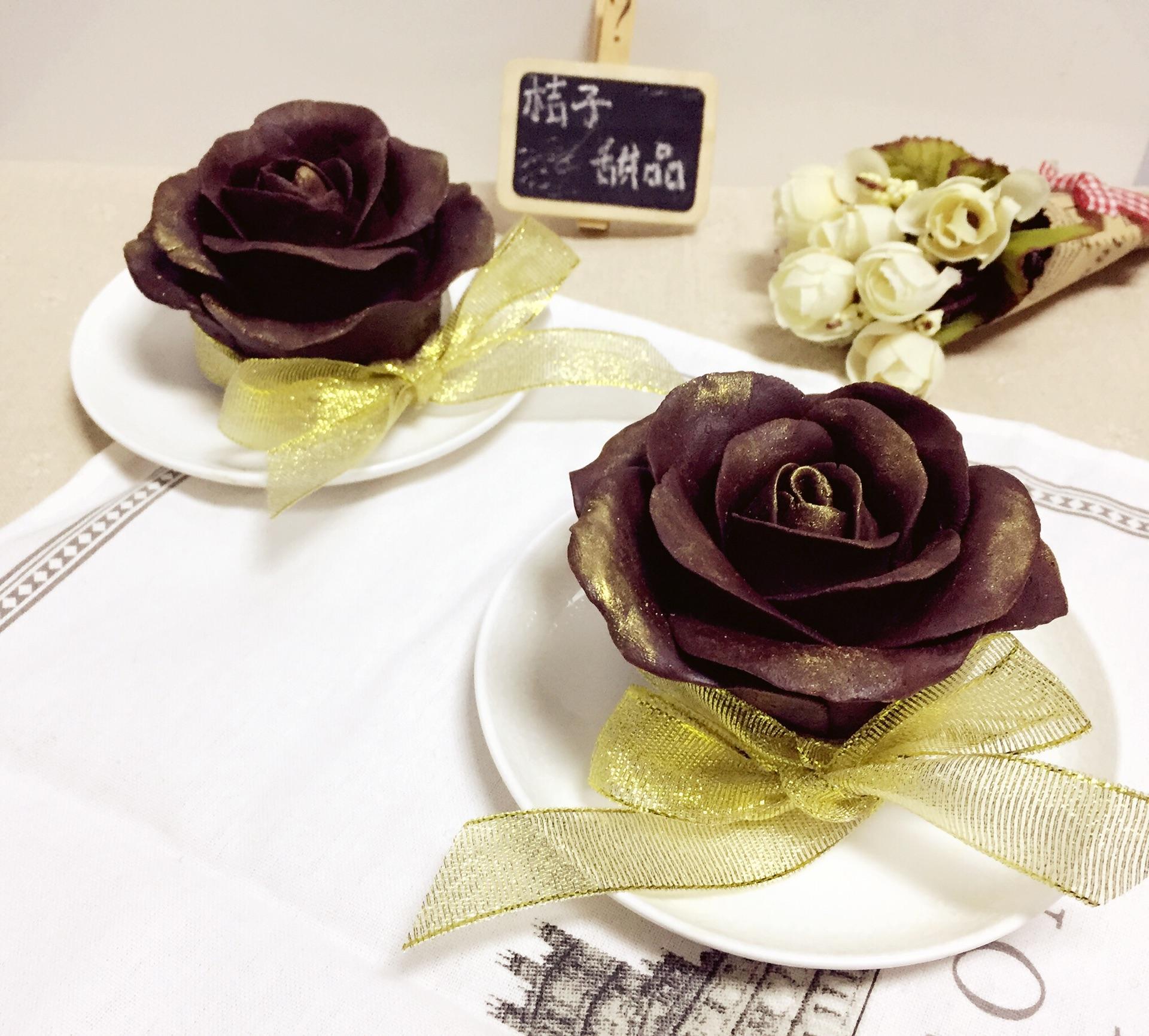 巧克力玫瑰花芝士蛋糕#有颜值的实力派图片