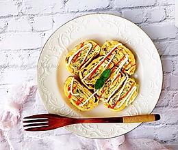 好吃又快手的洋葱鳕鱼肠厚蛋烧的做法