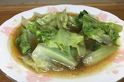 超简单蚝油生菜,健康清甜,刮油又减肥,非常快手!