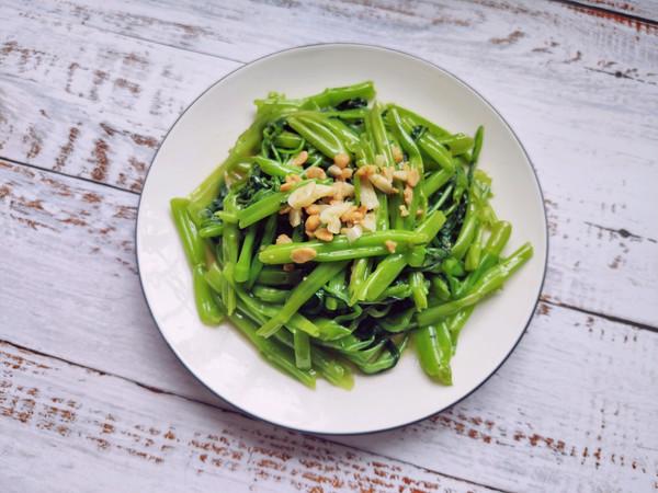 ‼️3分钟快手菜‼️普宁豆酱炒通菜的做法