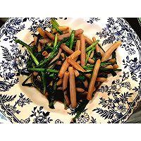韭菜炒海肠的做法图解5