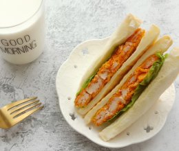 #一人一道拿手菜#鸡排三明治的做法