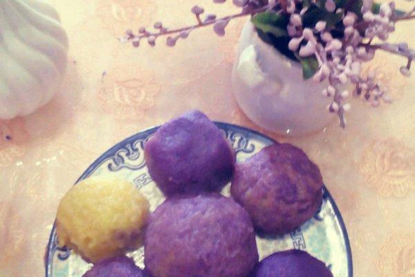 紫薯地瓜球的做法