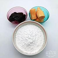 红薯豆沙糯米饼的做法图解1