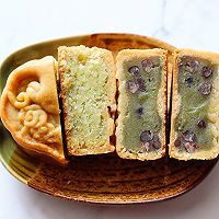 斑斓椰蓉和抹茶红豆馅月饼的做法图解26