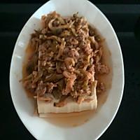 榨菜、肉末蒸豆腐的做法图解9