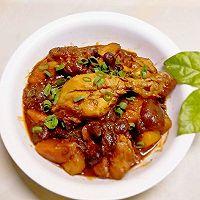 蘑菇鸡腿焖土豆