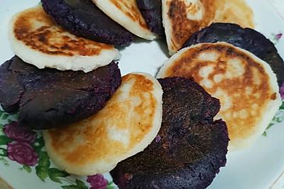 山药紫薯糯米饼
