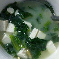 菠菜豆腐汤的做法图解3