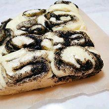 懒人菜谱——手撕芝麻蒸面包