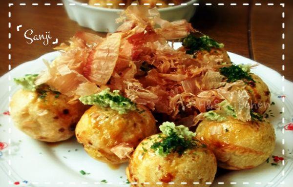「海贼王Sanji料理」⒄女生专享の低卡章鱼烧(222话)的做法