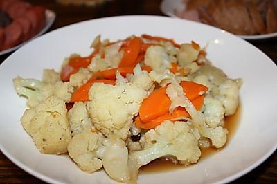 菜花胡萝卜凉拌菜