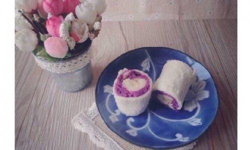 紫薯香蕉卷的做法