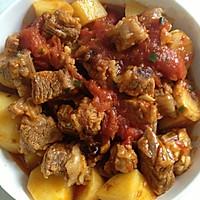 番茄土豆牛肉的做法图解2