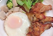 营养早餐——山药炖排骨、煎蛋、时蔬的做法