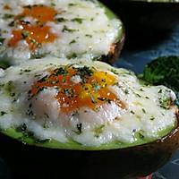 芝士鸡蛋烤牛油果 #百吉福芝士力量#的做法图解8