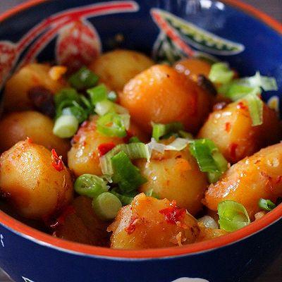 葱香剁椒蒸土豆