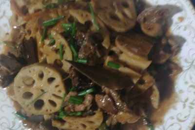 莲藕炒鸭肉