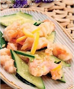 虾肉黄瓜片的做法