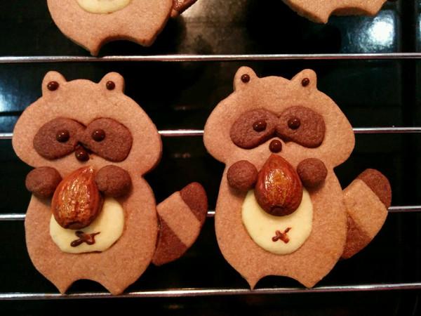 浣熊饼干(来自鱼一D,略有改动)的做法