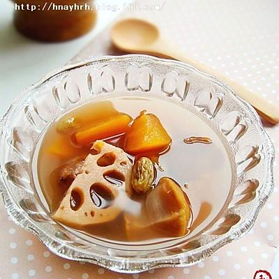木瓜莲藕栗子甜汤