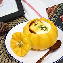 【南瓜盏炖蛋】 #快手又营养,我家的冬日必备菜品#