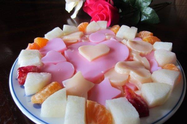 浪漫杏仁豆腐------献给天下的有情人的做法