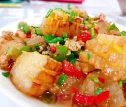 #中秋团圆食味#红烧冬瓜 肉不换的做法