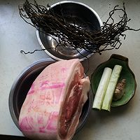 干豆角扣肉的做法图解1