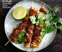香煎鸡腿肉串的做法