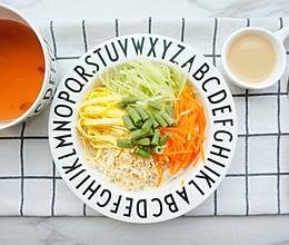 杂蔬鸡丝凉面·辅食的做法