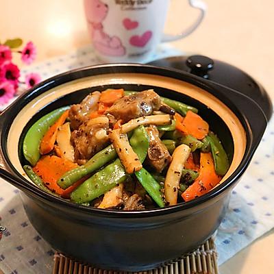 黑椒排骨杂锅