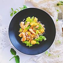 #秋天怎么吃#快手早餐—虾仁黎麦果肉沙拉