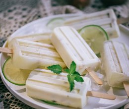 百香果奶油/青柠双口味老冰棍雪糕的做法