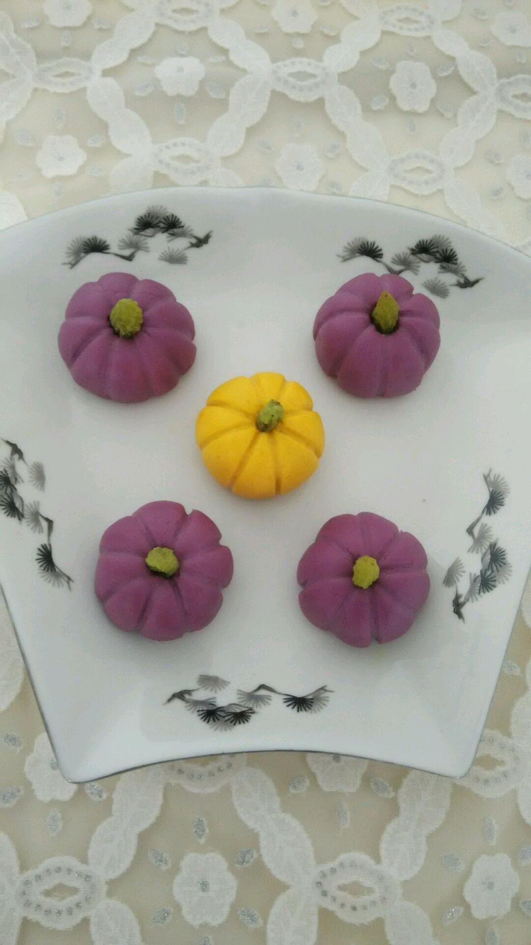 爱仕达寻找面点女王#紫薯,南瓜做的南瓜饼的做法图解6