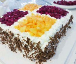 自制可可生日蛋糕的做法