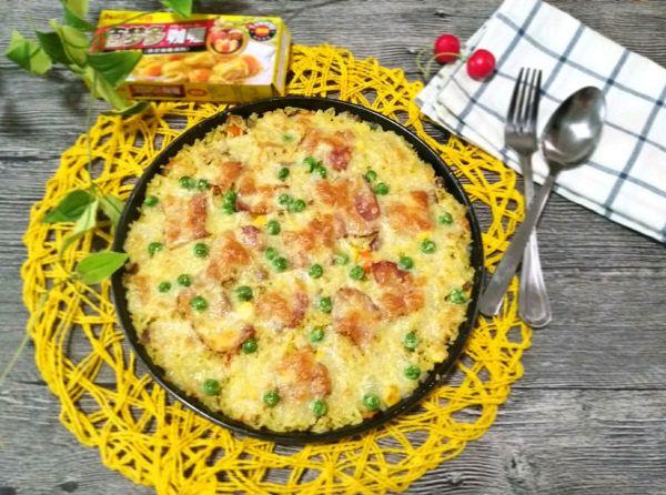 咖喱培根焗饭的做法