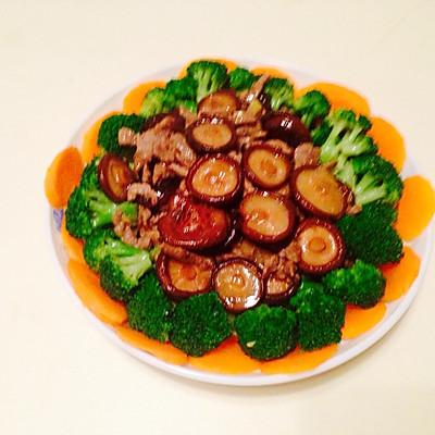 牛肉香菇遇上了西兰花胡萝卜